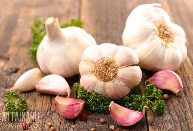 A few Garlic Bulbs