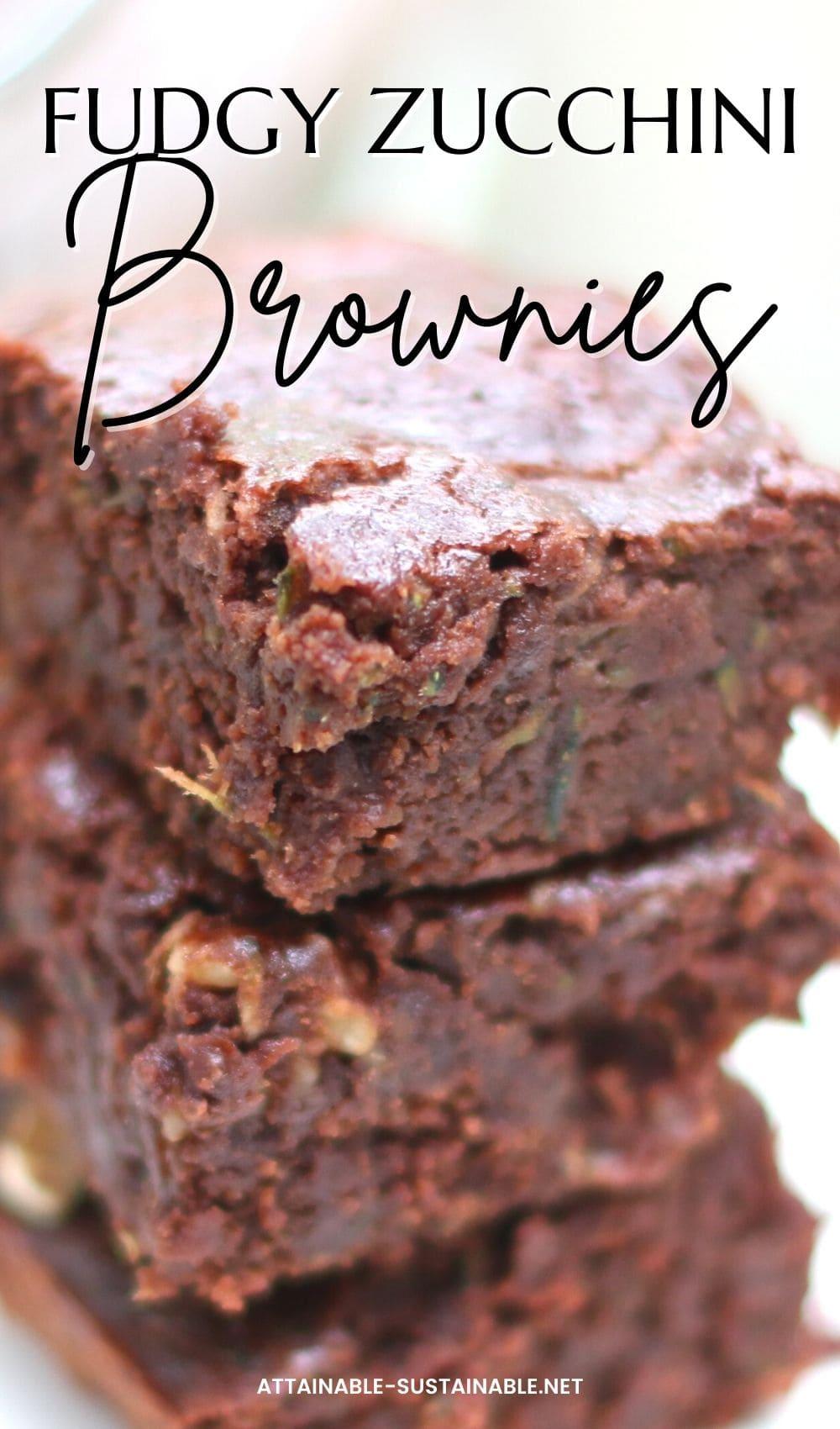stack of fudgy brownies