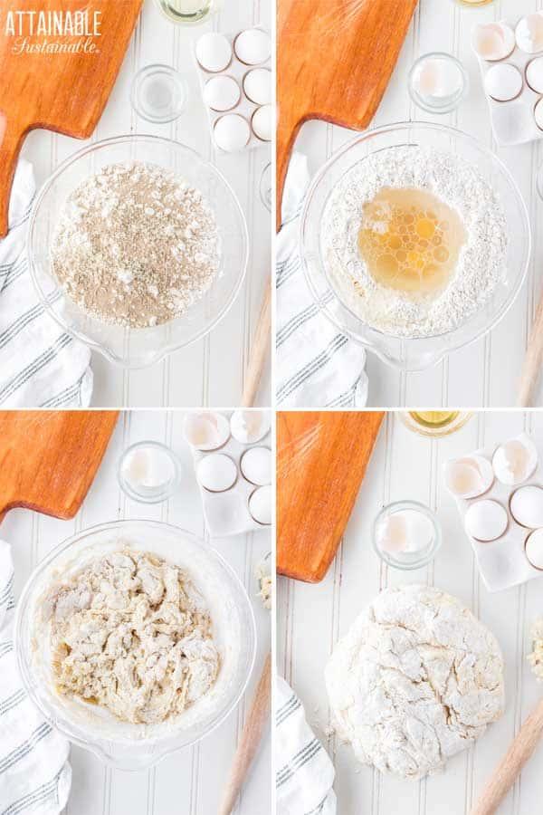 steps for making loaf of bread